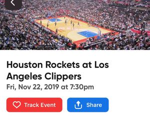 4 Rockets vs. Clippers Tickets! for Sale in Los Angeles, CA
