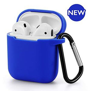 AirPods Silicone Case 1& 2 + Keychain Protective Case Cover Color Blue for Sale in Burlington, VT
