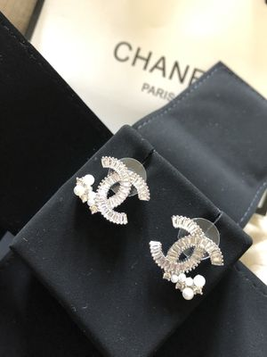Elegant Chanel earrings crystal pearl for Sale in West McLean, VA