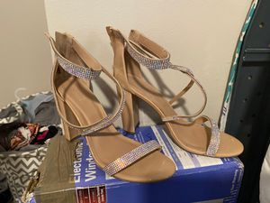 Dressy Beige Nude Strappy Heels for Sale in Ithaca, NY