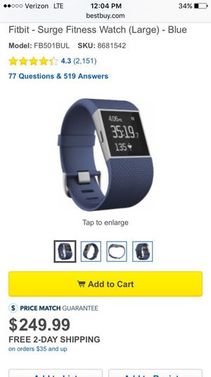 Fitbit like new used 3 days for Sale in Culver City, CA