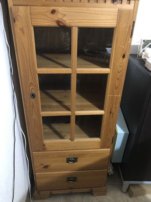 Wood shelf with glass front and a key for Sale in Kirkland, WA