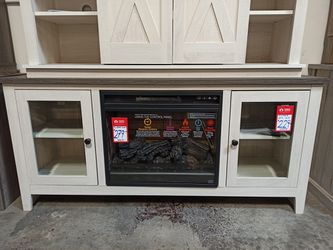NEW, GRAY AND ANTIQUED WHITE COLOR, 60 inch TV STAND WITH FIREPLACE, SKU#TC287.gray and antiqued white color� for Sale in Westminster,  CA