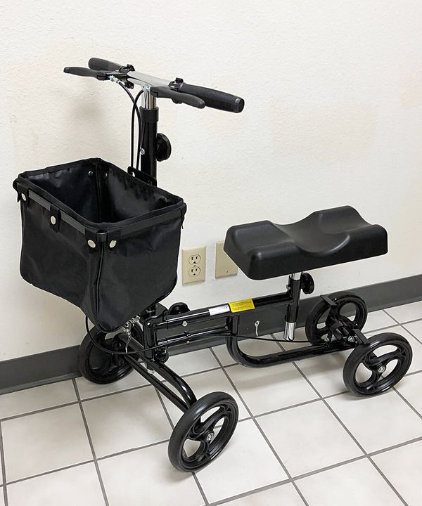 New $95 Steerable Knee Walker Scooter w/ Basket Rolling Wheel Handlebar Max Weight: 300lbs