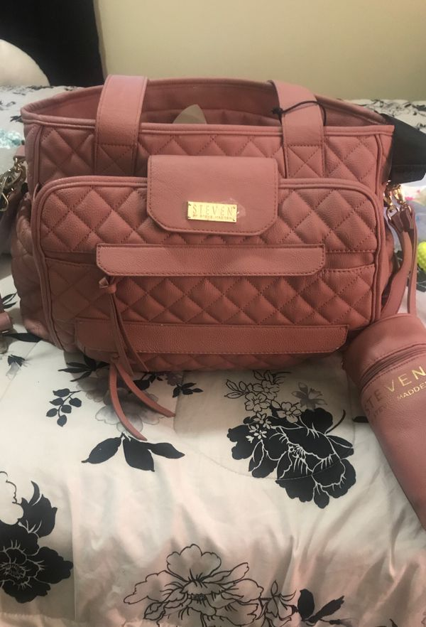 Steve Madden diaper bag with changing mat