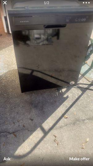 Black amana dishwasher in good condition for Sale in Orlando, FL