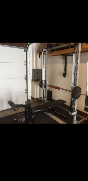 Body Solid Powerline PSM144X Smith Machine Station With Bench And Weights for Sale in Long Beach, CA