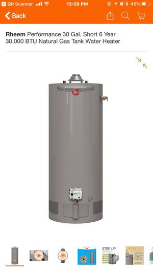 New Rheem Natural Gas water heater 30 gal for Sale in Mableton, GA