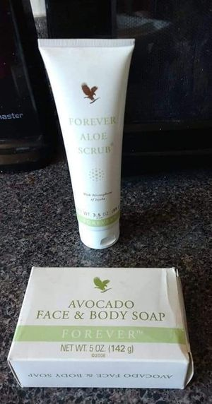 Forever Aloe scrub and avocado face and body soap for Sale in Laurel, DE