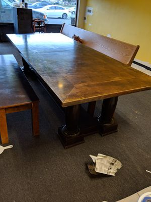 Large table with benches. for Sale in Chesapeake, VA