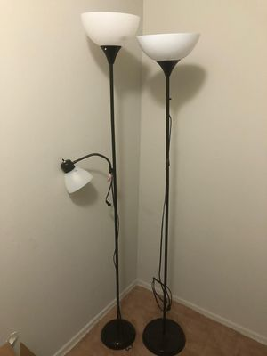 2 Floor Lamp & LED bulbs included for Sale in Bala Cynwyd, PA