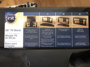 Init tv stand tampered glass for Sale in Milpitas, CA