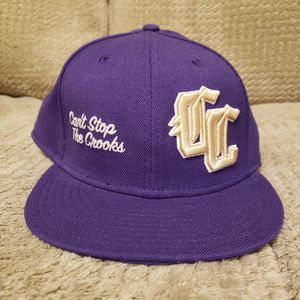 Crooks & Castles 7 & 1/4 Fitted Purple Hat Never Worn Rare for Sale in Pittsburgh, PA