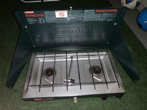 Two burner Coleman Gaz Campaign stove + 2 gas bottle n for Sale in Alameda, CA