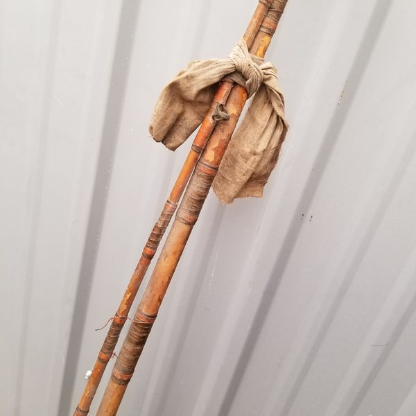 Vintage Fishing Rod with Pfleuger Knuckle Buster Reel