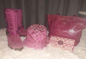 Coach boots, purse, wallet,& hat for Sale in Trezevant, TN