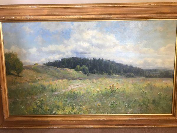 Original oil on canvas painting.