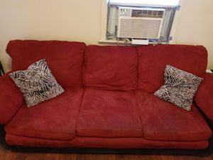 Red & Black Couch-- FREE for Sale in Cleveland, OH