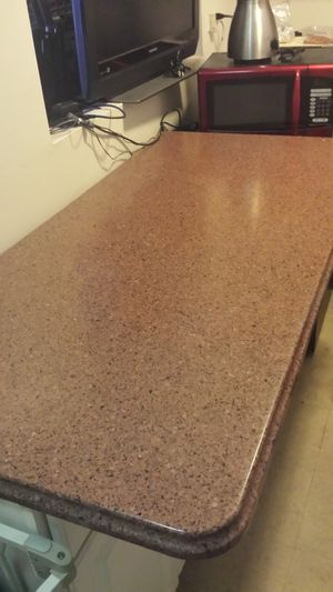 Marble counter too kitchen island 5ft long. 3pc. for Sale in New York, NY