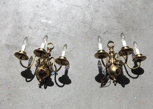 3 candle wall sconces (2) for Sale in Oviedo, FL