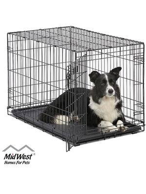 MidWest Homes for Pets Dog Crate | iCrate Single Door & Double Door Folding Metal Dog Crates | Fully Equipped for Sale in Tyngsborough, MA