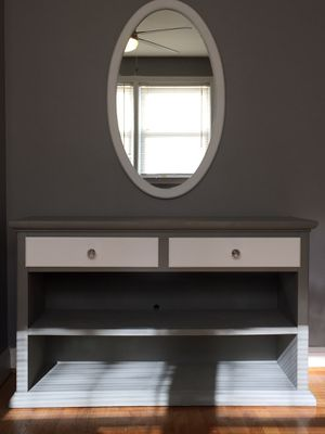 5 Piece Gray and White Refurbished Wood Furniture for Sale in Baltimore, MD