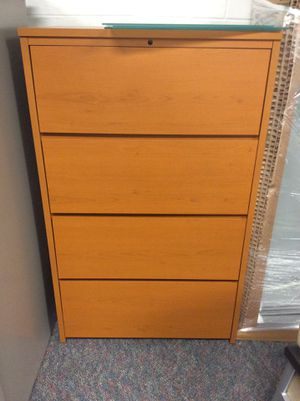 Beautiful wooden filing cabinet for Sale in Richmond, VA