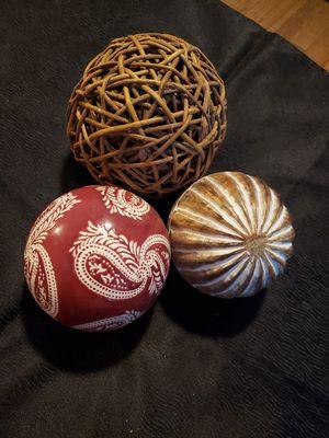 Decorative accents balls for Sale in Dallas, TX