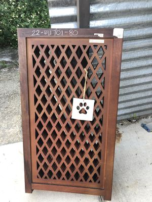 WOODEN HAND MADE DOG GATE for Sale in Estero, FL