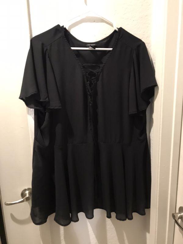 Torrid 2XL black sheer top