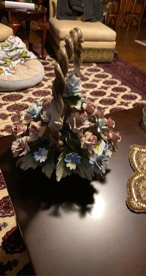 Porcelain flower basket for Sale in Lynnwood, WA