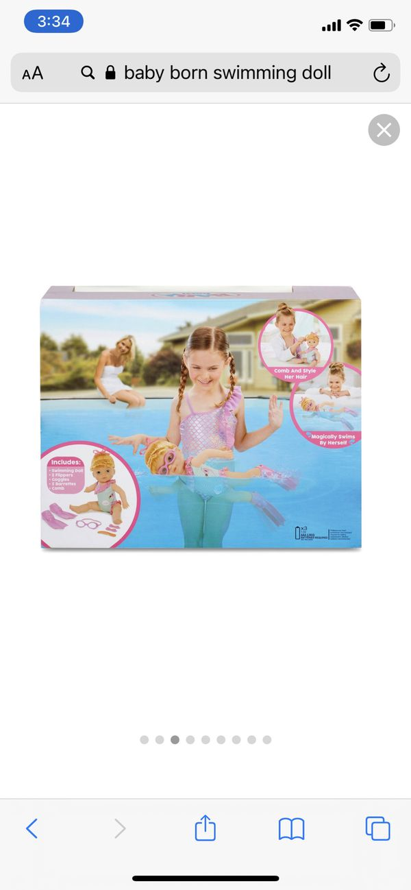New Baby Born Swimming Doll