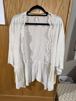 Ivory fringe kimono cardigan for Sale in San Diego, CA