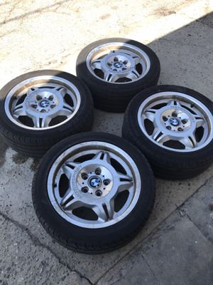 BMW E36 M3 LTW REPS 17x7.5 et41 with Tires 5x120 for Sale in Los Angeles, CA
