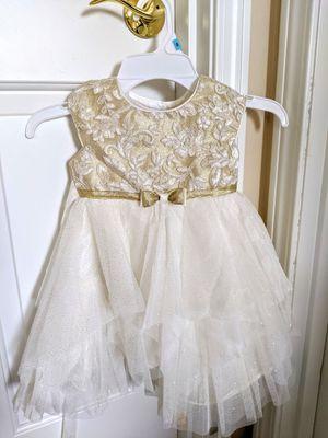 Jona Michelle Toddler Dress - Beige/White - Size 2T for Sale in Auburn, WA