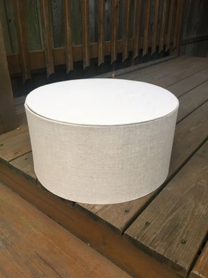 Linen Drum Lamp Shade - 16 x 8 - Like New for Sale in Chicago, IL