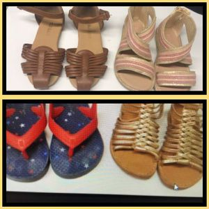 Girls (toddler size 7 shoes) 4 pairs for Sale in Malden, MA
