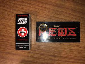 Bones Redz bearings and speed cream for Sale in Riverside, CA