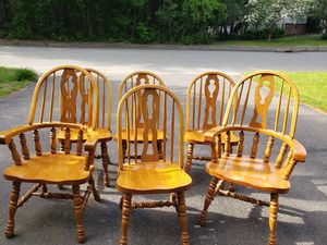 Six wood chairs for Sale in Randolph, MA