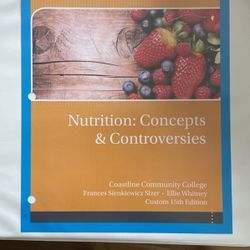 Nutrition: Concepts & Controversies for Sale in Costa Mesa,  CA