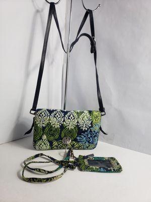 Vera Bradley Petite Crossbody Purse Caribbean Sea EUC With matching Id wallet PRICE FIRM 🚫 for Sale in San Antonio, TX
