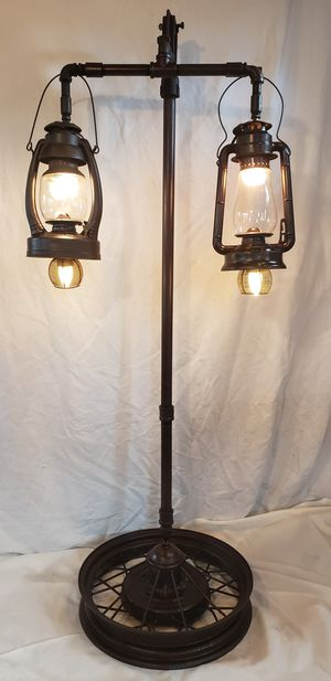 Antique Lantern Floor Lamp with Model A Wheel Base for Sale in Lakewood, WA