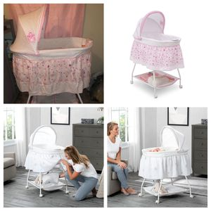 Brand NEW Disney Princess Pink Baby Newborn Girls Bedroom Bassinet Crib Infant Cradle Rolling Music With Wheel Rocking Gliding for Sale in Chino Hills, CA