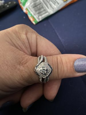 Genuine blue and white diamond ring for Sale in Fayetteville, NC