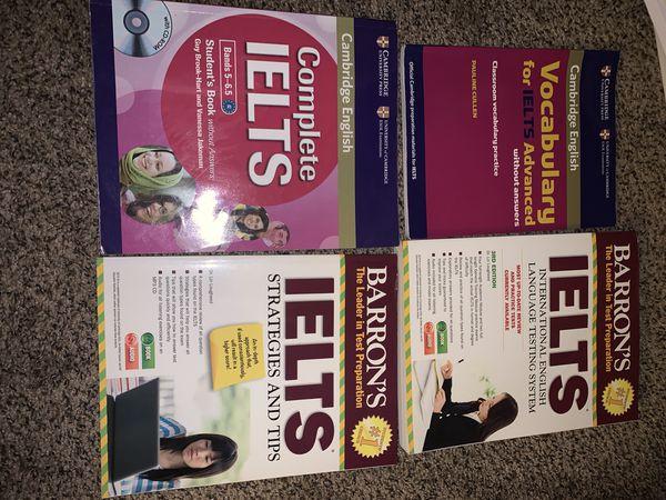 IELTS Exam books.