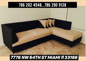 L shape sectional sofa available never used for Sale in Doral, FL