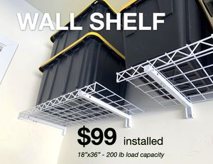 Garage Wall Mounted Metal Shelves for Sale in Scottsdale, AZ