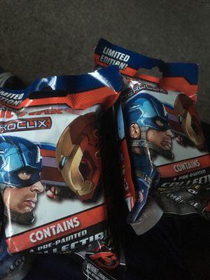 Heroclix NECA Wizkids Toys Marvel Captain America Civil War 2016 Set Of 2 Mini Figures MISB Never Opened. Read Description. for Sale in Austin, TX