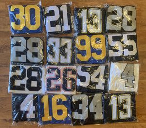 100% Stitched Jerseys COWBOYS CHARGERS RAIDERS RAMS AND PATRIOTS for Sale in Perris, CA