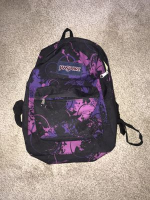 Classic Jansport Backpack / Book Bag - Vintage Black/Pink/Purple for Sale in Medford, MA